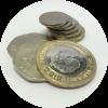 some coins - round